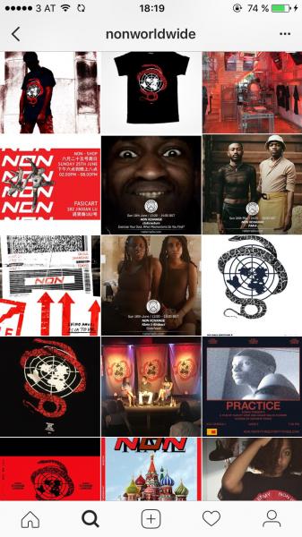 Der Instagram-Account von NON WORLDWIDE, einem radikalen Musik-Kollektiv.